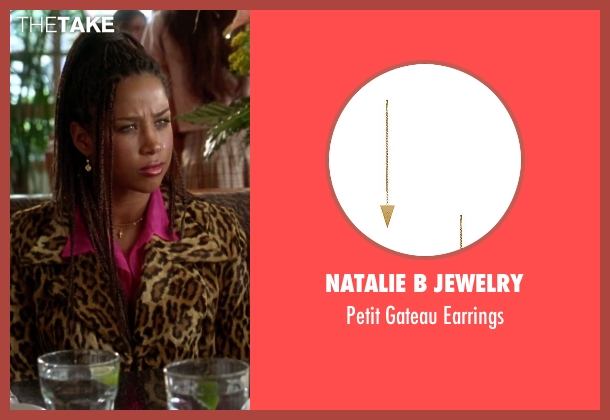 Natalie B Jewelry gold earrings from Clueless seen with Stacey Dash (Dionne)