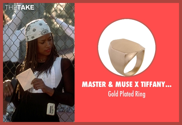 Master & Muse X Tiffany Kunz gold ring from Clueless seen with Stacey Dash (Dionne)