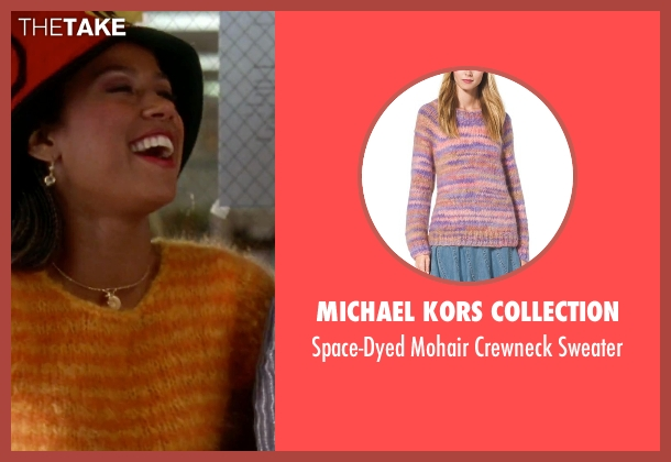 Michael Kors Collection orange sweater from Clueless seen with Stacey Dash (Dionne)