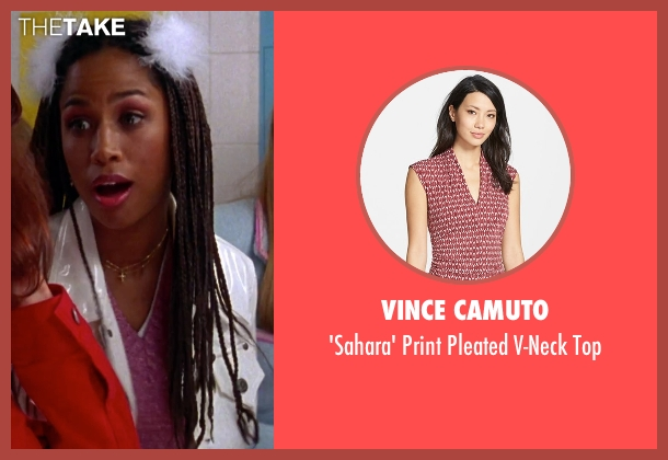Vince Camuto pink top from Clueless seen with Stacey Dash (Dionne)