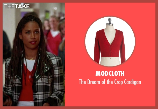 ModCloth red cardigan from Clueless seen with Stacey Dash (Dionne)
