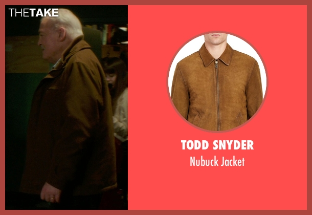 Todd Snyder brown jacket from If I Stay seen with Stacy Keach (Gramps)