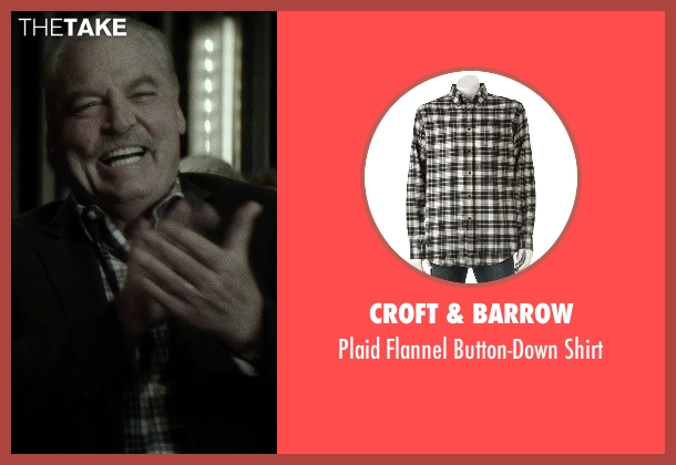 Croft & Barrow brown shirt from If I Stay seen with Stacy Keach (Gramps)