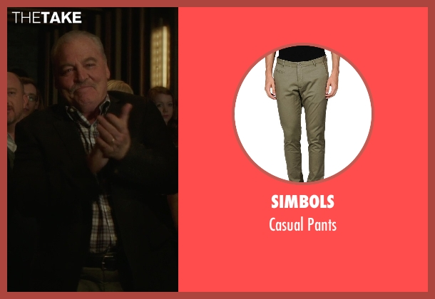 Simbols green pants from If I Stay seen with Stacy Keach (Gramps)