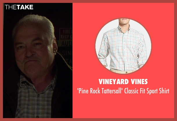 Vineyard Vines white shirt from If I Stay seen with Stacy Keach (Gramps)