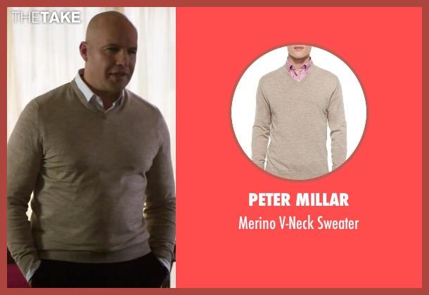 Peter Millar beige sweater from Guilt seen with Stan Gutterie (Billy Zane)