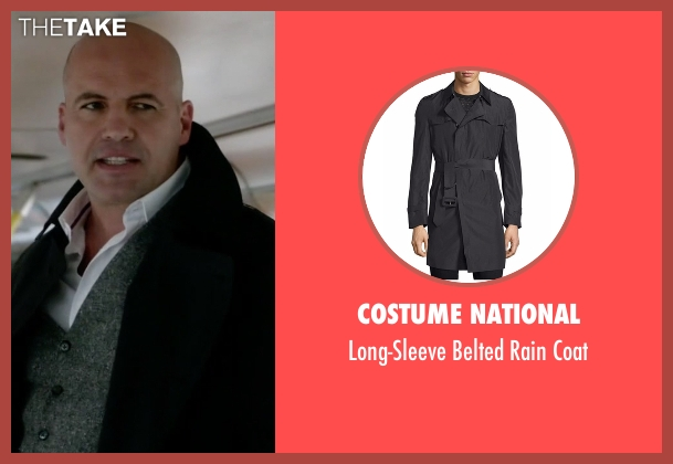 Costume National black coat from Guilt seen with Stan Gutterie (Billy Zane)