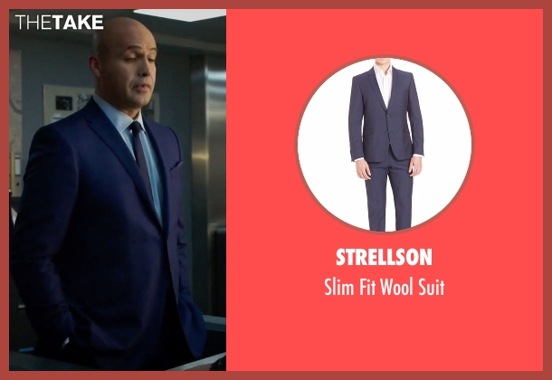 Strellson blue suit from Guilt seen with Stan Gutterie (Billy Zane)