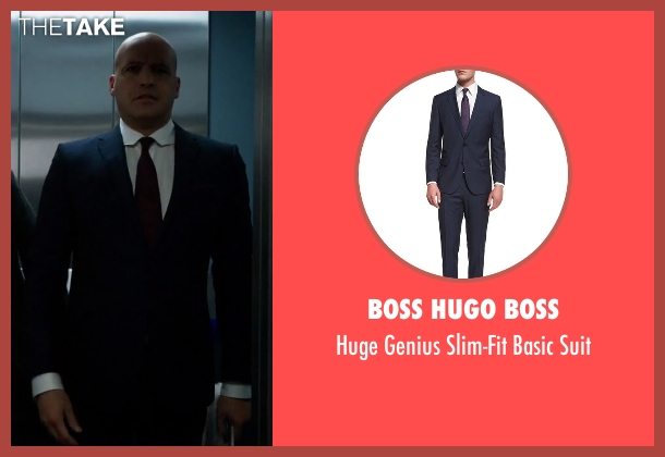 Boss Hugo Boss blue suit from Guilt seen with Stan Gutterie (Billy Zane)