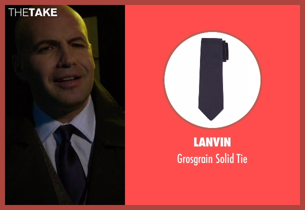 Lanvin blue tie from Guilt seen with Stan Gutterie (Billy Zane)