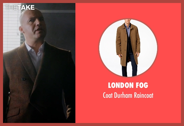 London Fog brown raincoat from Guilt seen with Stan Gutterie (Billy Zane)