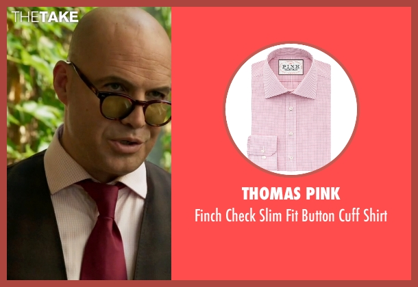 Thomas Pink pink shirt from Guilt seen with Stan Gutterie (Billy Zane)