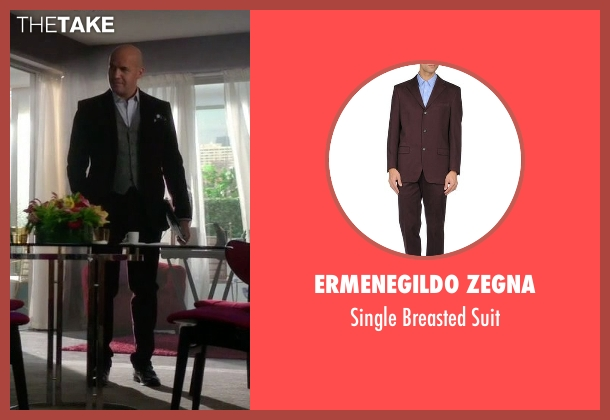 Ermenegildo Zegna purple suit from Guilt seen with Stan Gutterie (Billy Zane)