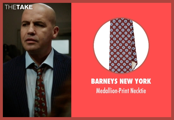 Barneys New York red necktie from Guilt seen with Stan Gutterie (Billy Zane)