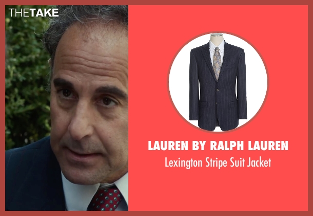 Lauren By Ralph Lauren blue jacket from Spotlight seen with Stanley Tucci (Mitchell Garabedian)