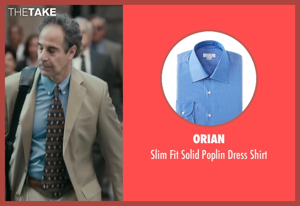 Orian blue shirt from Spotlight seen with Stanley Tucci (Mitchell Garabedian)