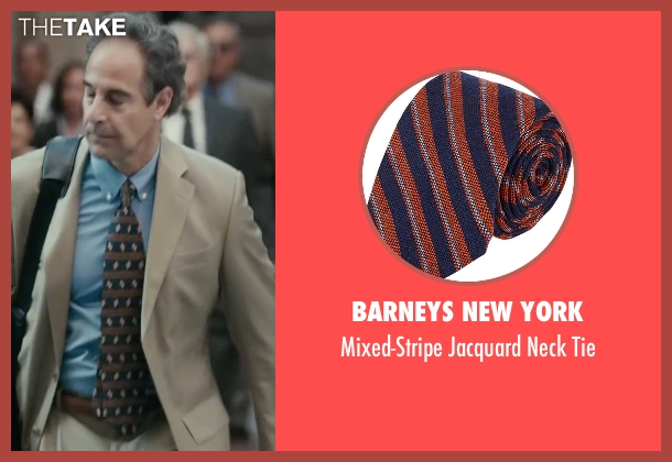 Barneys New York blue tie from Spotlight seen with Stanley Tucci (Mitchell Garabedian)