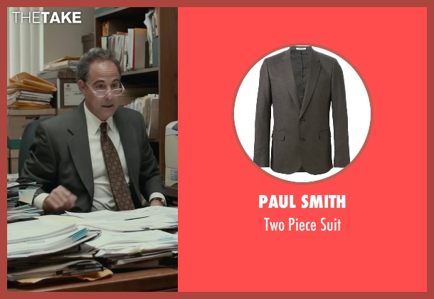 Paul Smith gray suit from Spotlight seen with Stanley Tucci (Mitchell Garabedian)