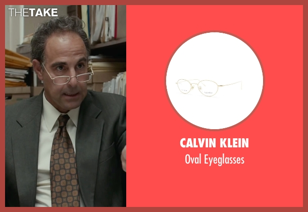 Calvin Klein white eyeglasses from Spotlight seen with Stanley Tucci (Mitchell Garabedian)