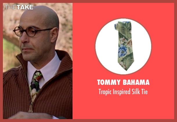 Tommy Bahama green tie from The Devil Wears Prada seen with Stanley Tucci (Nigel)