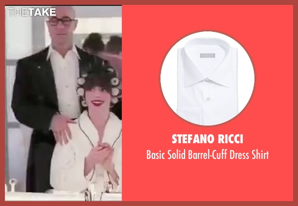 Stefano Ricci white shirt from The Devil Wears Prada seen with Stanley Tucci (Nigel)