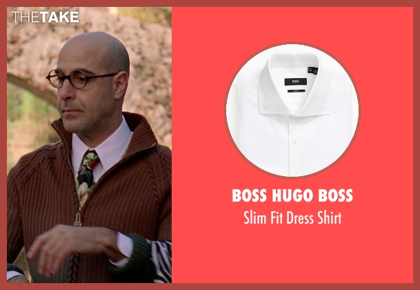 Boss Hugo Boss white shirt from The Devil Wears Prada seen with Stanley Tucci (Nigel)