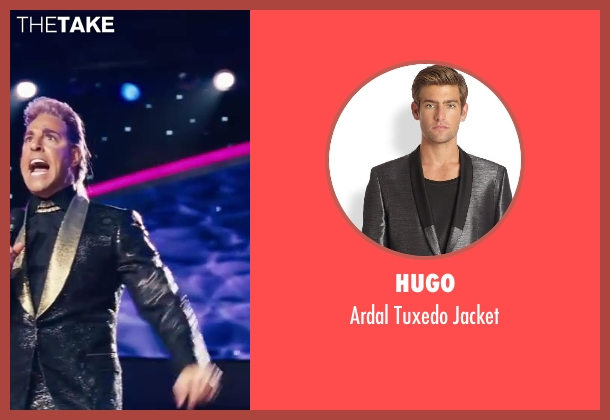 Hugo jacket from The Hunger Games: Catching Fire seen with Stanley Tucci (Caesar Flickerman)