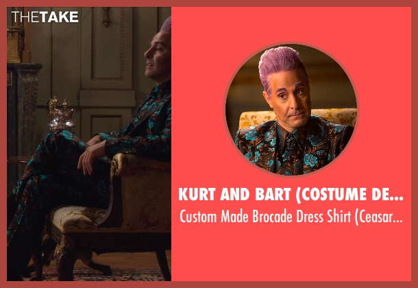 Kurt and Bart (Costume Designer) shirt from The Hunger Games: Mockingjay Part 1 seen with Stanley Tucci (Caesar Flickerman)