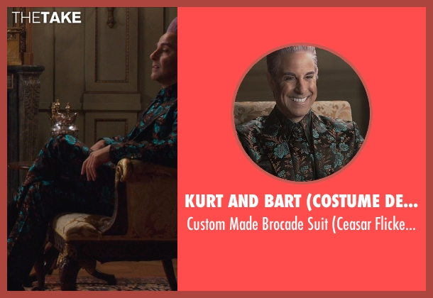 Kurt and Bart (Costume Designer) suit from The Hunger Games: Mockingjay Part 1 seen with Stanley Tucci (Caesar Flickerman)