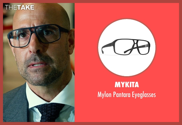 Mykita black eyeglasses from Transformers: Age of Extinction seen with Stanley Tucci (Joshua)