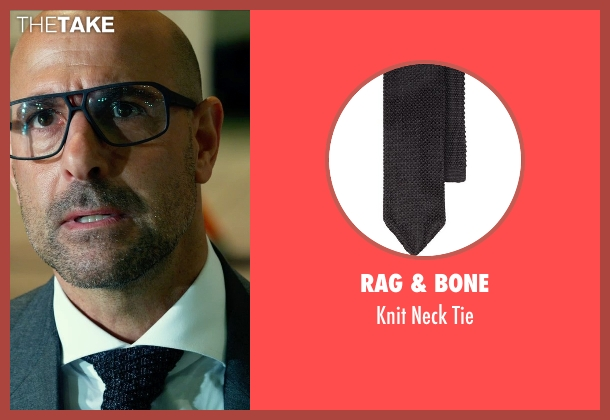 RAG & BONE black tie from Transformers: Age of Extinction seen with Stanley Tucci (Joshua)