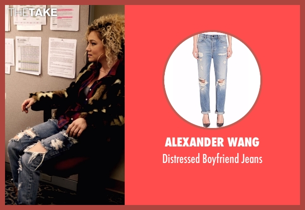 Alexander Wang blue jeans from Star seen with Star (Jude Demorest)