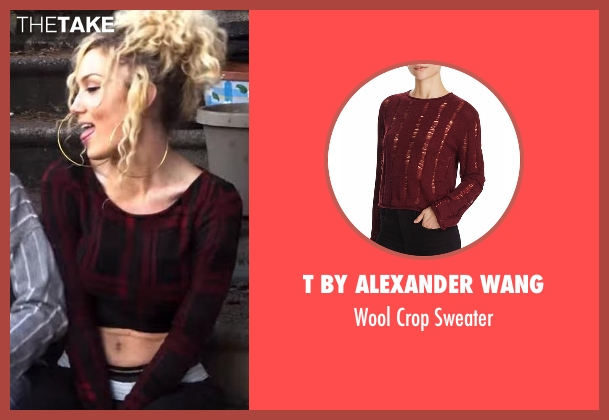 Star 39 s red t by alexander wang wool crop sweater from star season 1 preview thetake - Jude demorest bio ...