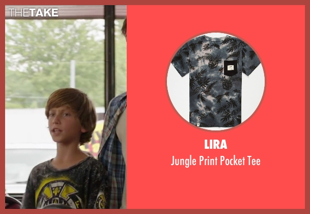 Lira black tee from Vacation seen with Steele Stebbins (Kevin Griswold)