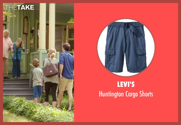 Levi's blue shorts from Vacation seen with Steele Stebbins (Kevin Griswold)