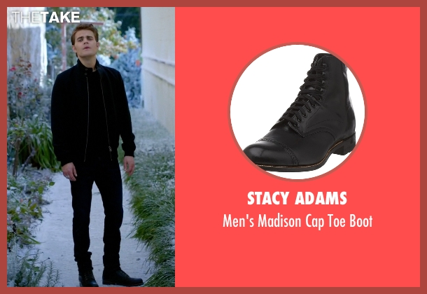 Stacy Adams black boot from The Vampire Diaries seen with Stefan Salvatore (Paul Wesley)