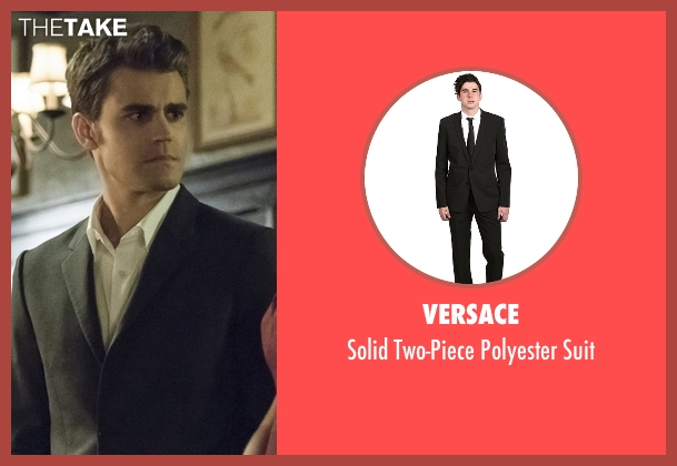 Versace black suit from The Vampire Diaries seen with Stefan Salvatore (Paul Wesley)