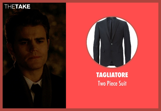 Tagliatore black suit from The Vampire Diaries seen with Stefan Salvatore (Paul Wesley)