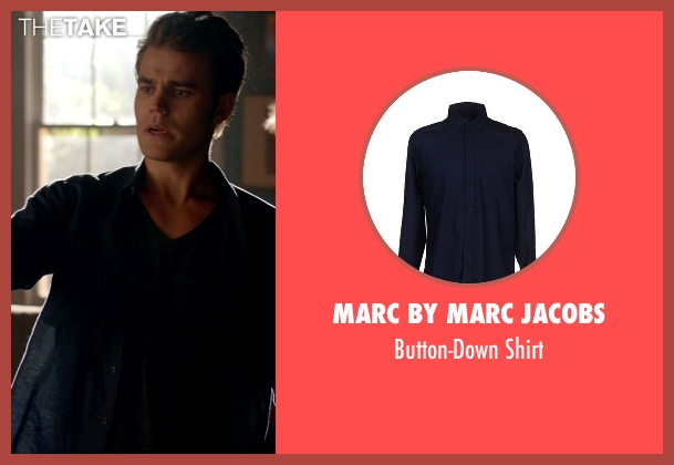 Marc By Marc Jacobs blue shirt from The Vampire Diaries seen with Stefan Salvatore (Paul Wesley)