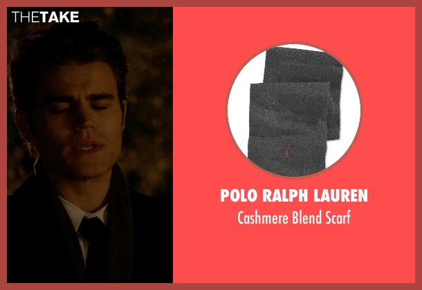 Polo Ralph Lauren gray scarf from The Vampire Diaries seen with Stefan Salvatore (Paul Wesley)