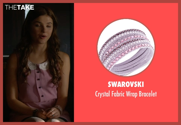 Swarovski pink bracelet from Insidious: Chapter 3 seen with Stefanie Scott (Quinn Brenner)
