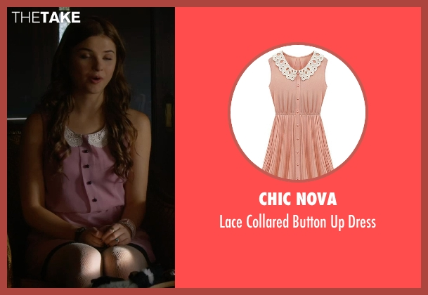 Chic Nova pink dress from Insidious: Chapter 3 seen with Stefanie Scott (Quinn Brenner)