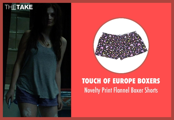 Touch Of Europe Boxers purple shorts from Insidious: Chapter 3 seen with Stefanie Scott (Quinn Brenner)