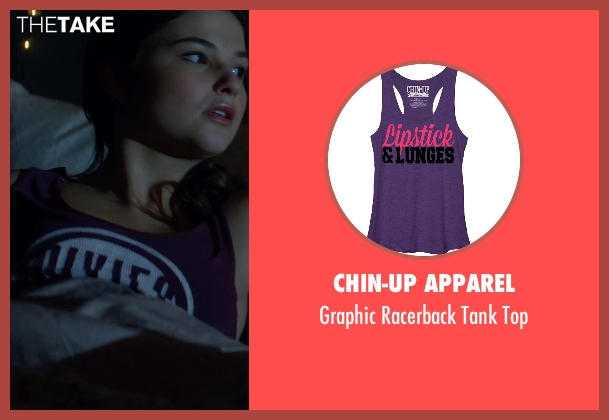 Chin-Up Apparel purple top from Insidious: Chapter 3 seen with Stefanie Scott (Quinn Brenner)