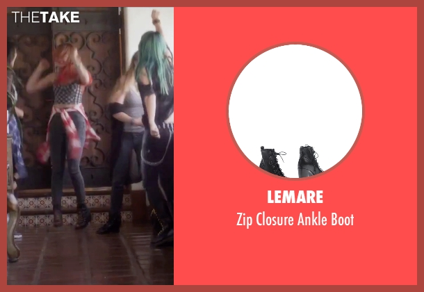 Lemare black boot from Jem and the Holograms seen with Stefanie Scott (Kimber)