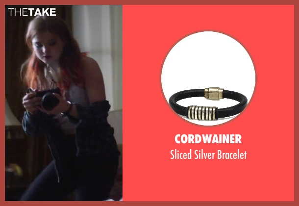 Cordwainer black bracelet from Jem and the Holograms seen with Stefanie Scott (Kimber)