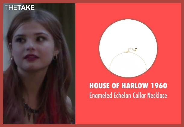 House of Harlow 1960 black necklace from Jem and the Holograms seen with Stefanie Scott (Kimber)