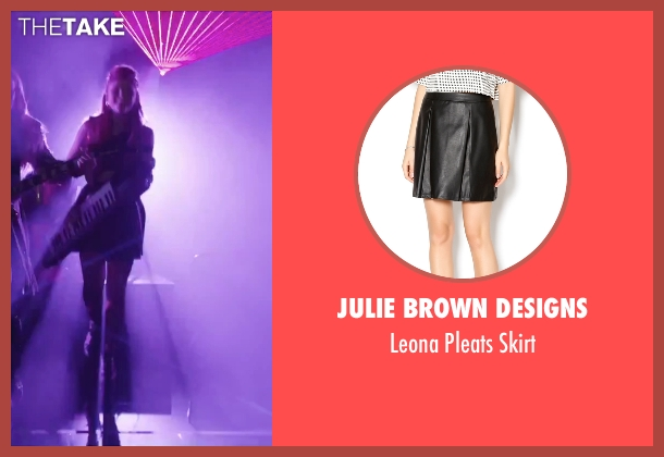Julie Brown Designs black skirt from Jem and the Holograms seen with Stefanie Scott (Kimber)
