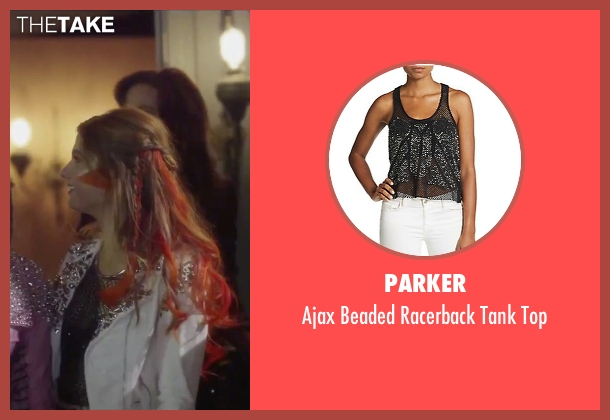 Parker black top from Jem and the Holograms seen with Stefanie Scott (Kimber)