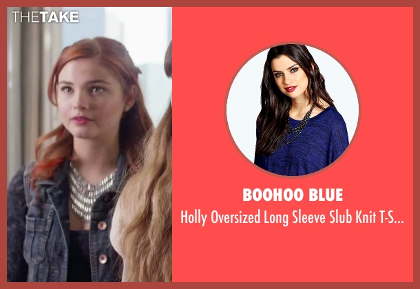 Boohoo Blue blue t-shirt from Jem and the Holograms seen with Stefanie Scott (Kimber)